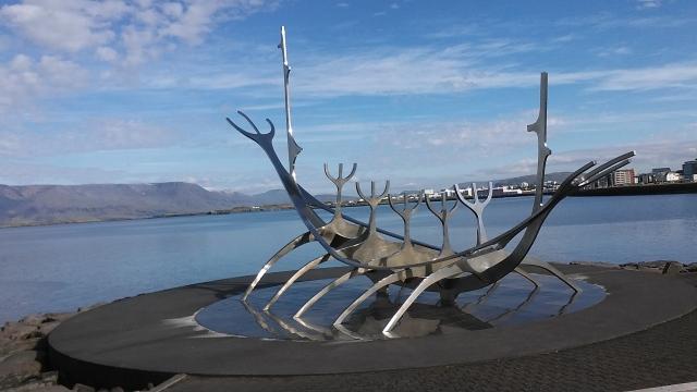 Iceland reykjavik statue
