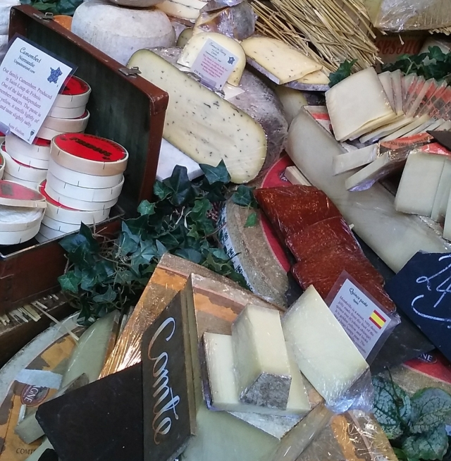 cheese and food at borough market London