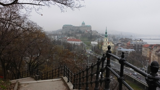 gellert hill view, Budapest Hungary travel photo