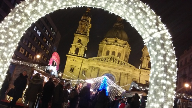 Christmas markets while traveling in Budapest Hungary europe