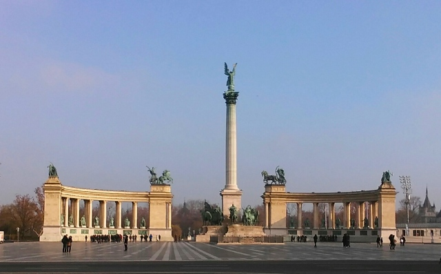 Budapest hungary travel heroes square