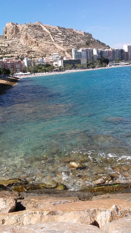 alicante Spain mountains and ocean
