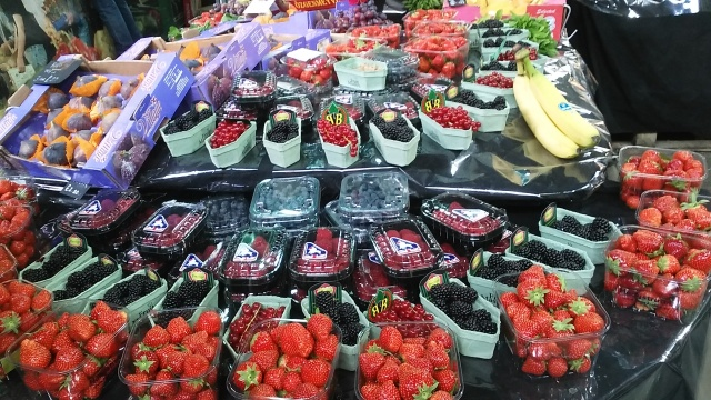 London travel fruit market