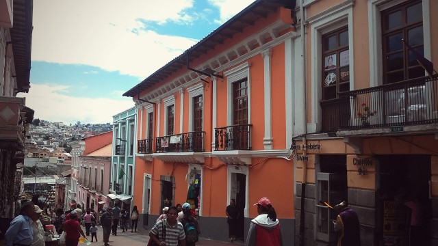 travel in South America, Ecuador, Quito, traveler old town