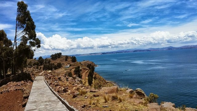 South America travel  lake Titicaca Bolivia