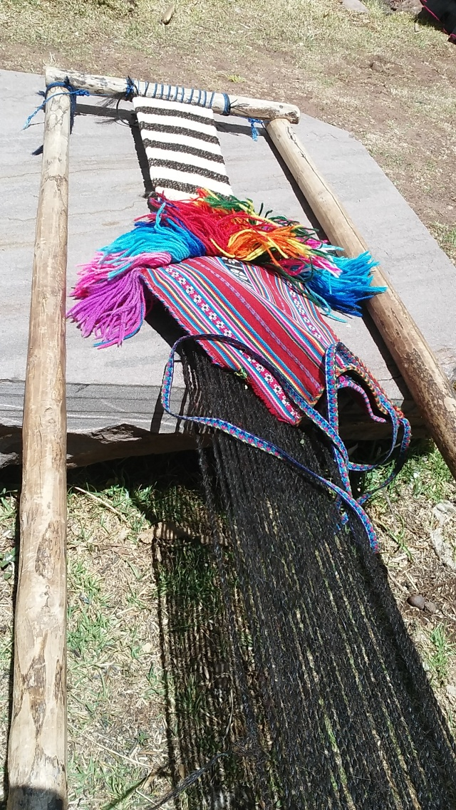 lake Titicaca Peru weaving