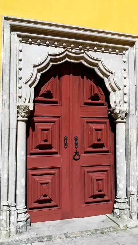 sintra portugal palace door