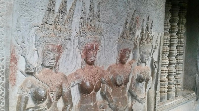 Angkor wat temple art