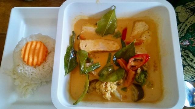 thai vegan curry in Thailand, travel photo