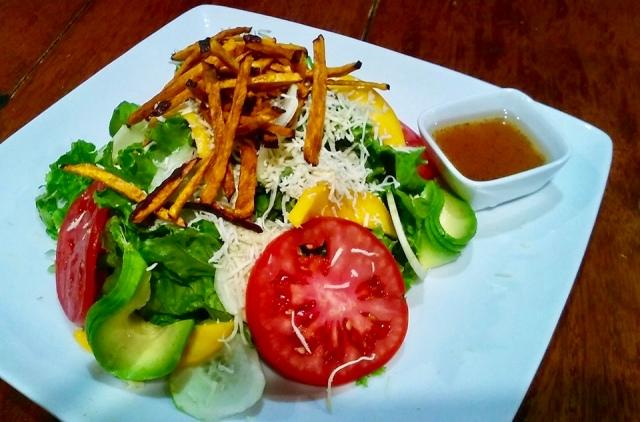 vegetarian salad food in cusco, Peru travel photo
