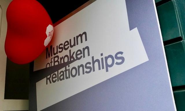 Musem of Broken relationships in Zagreb Croatia