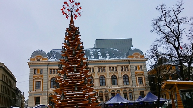 Christmas market Riga Latvia europe