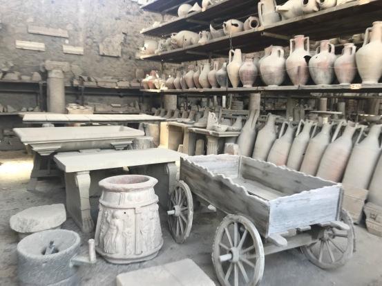 artifacts Pompeii history Italy travel