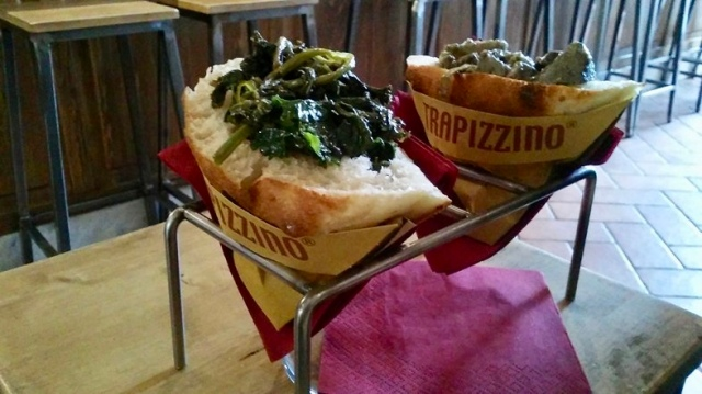 trapizzino Italian food vegetarian Italy Rome travel