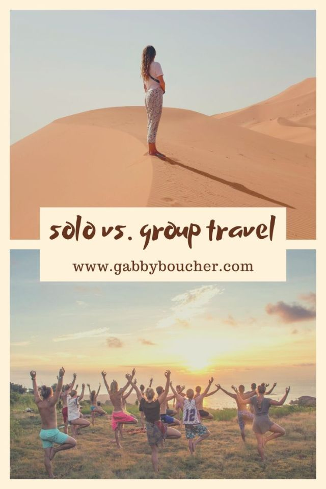 solo vs group travel