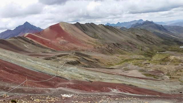 rainbow mountain Peru backpacking
