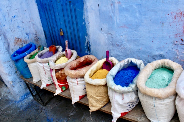 colors chefchaouen