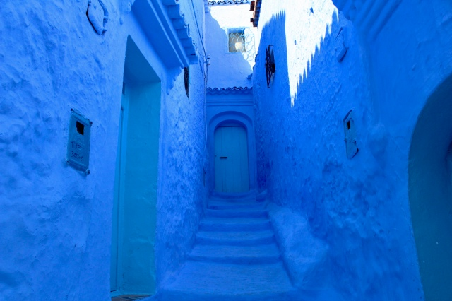 Morocco travel blue street