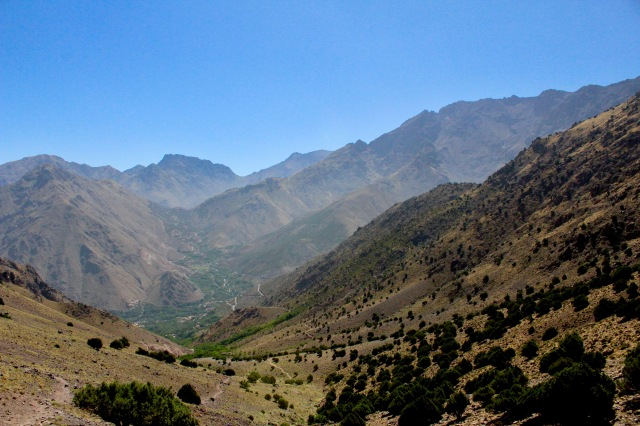 top of first hill over imlil valley