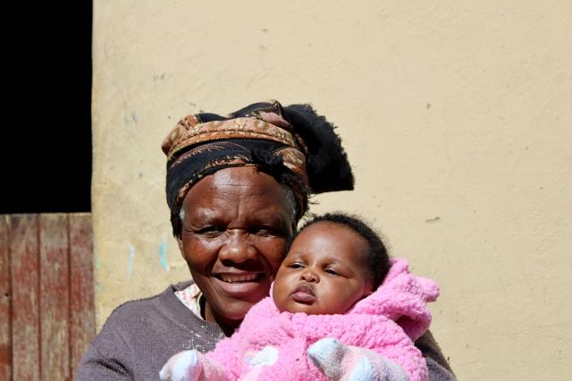 locals african village