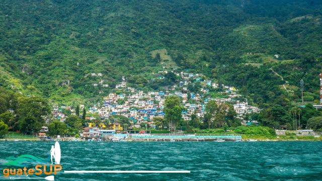 santa catarina from water lake