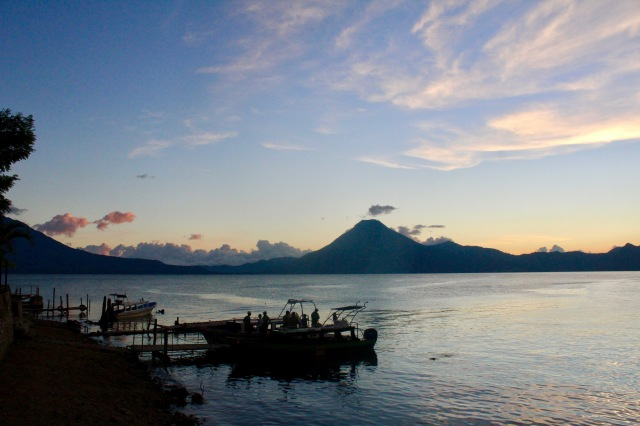 sunset pana lake atitlan